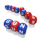 Gun control debate and second amendment — Stock Photo