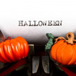 Typewriter with text halloween — Stockfoto