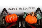 Typewriter with text happy halloween — Stock Photo