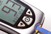 Blood glucose meter — Stock Photo