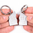 Stock Photo: Key-chain with home shape