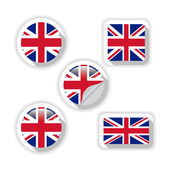Flags of British. — Stock Vector