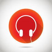 Headphone icon. — Stock Vector