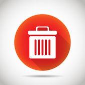 Dustbin icon. — Stock Vector