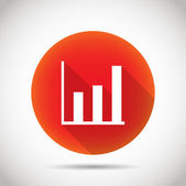 Growth chart icon. — Vettoriale Stock