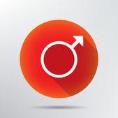 Male symbol icon. — Stock Vector
