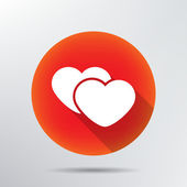 Two hearts icon. — Stock Vector