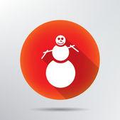 Snowman icon. — Stock Vector