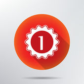 Number one icon. — Stock Vector