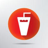 Plastic glass icon. — Stock Vector