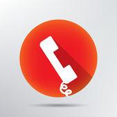 Telephone handset icon. — Stock Vector