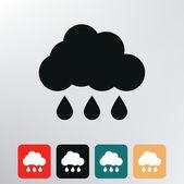 Rainy cloud icon. — Stock Vector
