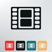 Film reel icon. — Stock Vector