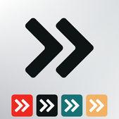 Double arrows icon. — Stock Vector