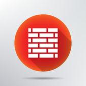 レンガ壁のアイコン. — ストックベクタ