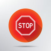 Stop sign icon. — Stock Vector