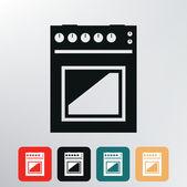 Gas stove icon. — Stock Vector