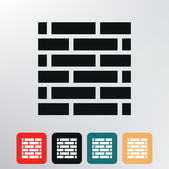 Brick wall icon. — Stock Vector