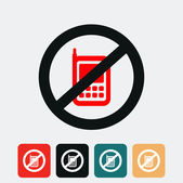 No cell phone sign. — Stock Vector