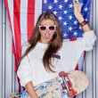 Beautiful patriotic girl — ストック写真 #21266199