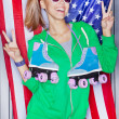 Beautiful patriotic girl — Stock fotografie #21266299