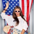 Beautiful patriotic girl — Stock Photo #44077189
