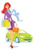 Shopping — Vecteur