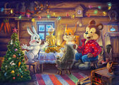 Christmas evening — Stock Photo