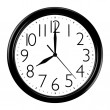 Stock Photo: Black wall clock