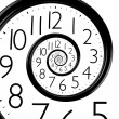 Infinity time spiral clock — Stock Photo #33398757