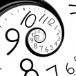 Infinity time spiral clock — Stock Photo