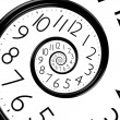 Infinity time spiral clock — Stock Photo #33398787