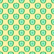 Pattern with apples — Stock Photo
