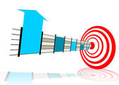 Hitting the right target — Stock Photo