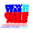 New year 2013 SALE in various colors — Stock Photo