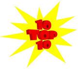 10 najlepszych tekst transparent projekt — Zdjęcie stockowe