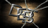 Chained with Debt — Stock Photo