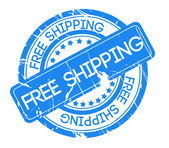 Free Shipping Stamp design — Stock Photo