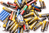 Group of old batteries — Stock Photo