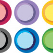 Abstract bright color circle labels — Stock Vector