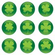 Stock Vector: Shamrocks icon set - vector