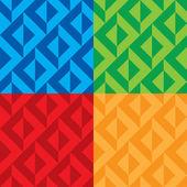 Бесшовные шаблоны Векторный четыре цветовых вариаций — Cтоковый вектор