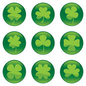 Shamrocks icon set - vector — Stock Vector