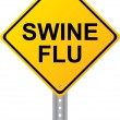 Swine Flu Yellow Road Sign Vector Image — Stock Vector