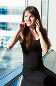 Woman in the airport — Stock Photo