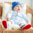 Boy is sitting on armchair — Stock Photo #25748333