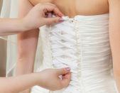 A woman in wedding dress — Stock Photo