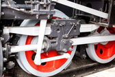 Old locomotive wheels — Stock Photo