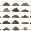 Aassortment of dry tea — Stock Photo #34731141