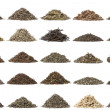 Aassortment of dry tea — Stock Photo